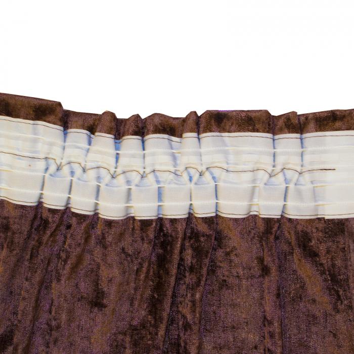 Set draperii Velaria unt-wenge, 2x115x235 cm 3