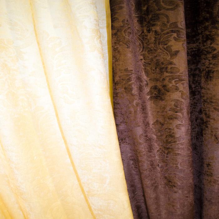 Set draperii Velaria unt-wenge, 2x115x235 cm 2