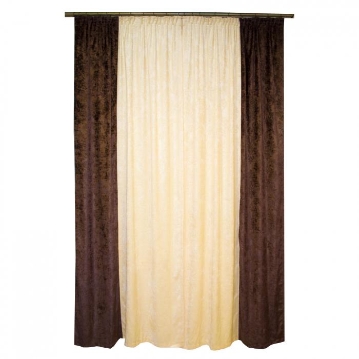 Set draperii Velaria unt-wenge, 2x115x235 cm 1