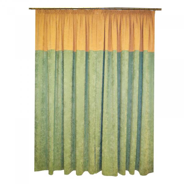Set draperii Velaria verde -bej, 2x185x230 cm 1