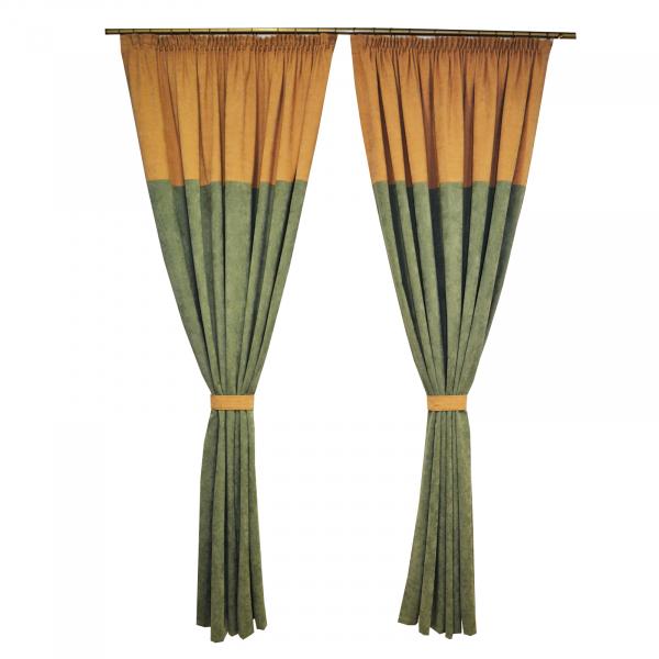 Set draperii Velaria verde -bej, 2x185x230 cm 0