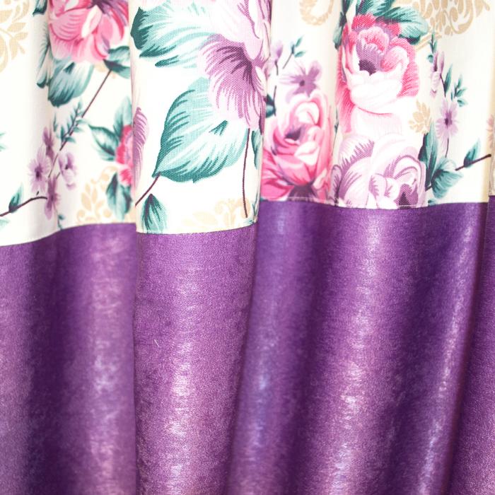 Set draperii Velaria floral mov, 2x155x255 cm 2