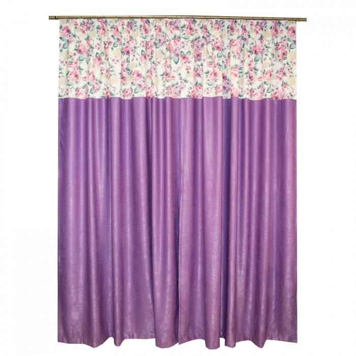 Set draperii Velaria floral mov, 2x155x255 cm 1