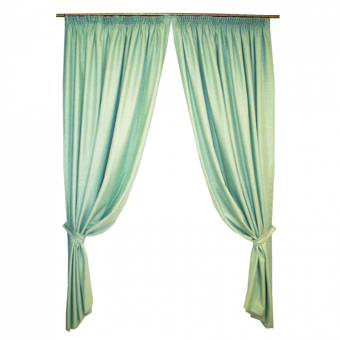 Set draperii Velaria verde salvie 2x200x260 cm 0
