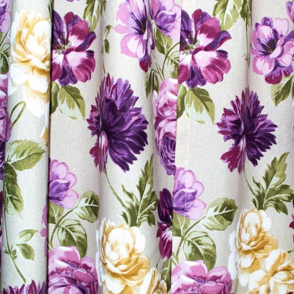 Set draperii Velaria flori mov, diverse dimensiuni 2