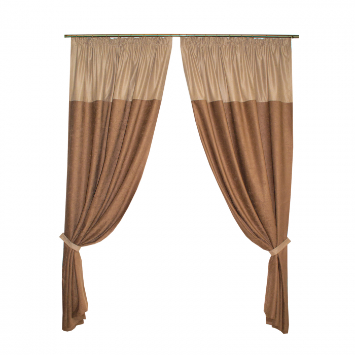 Set draperii Velaria ciocolata 2x140x260 cm 0