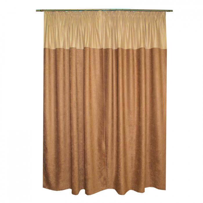Set draperii Velaria ciocolata 2x140x260 cm 1