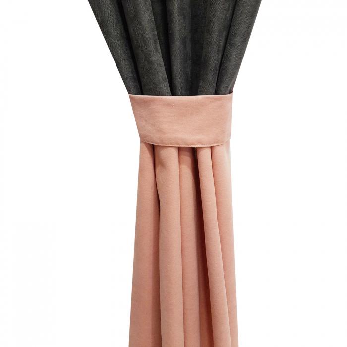 Set draperii Velaria roz-gri, 2x135x240 cm 2
