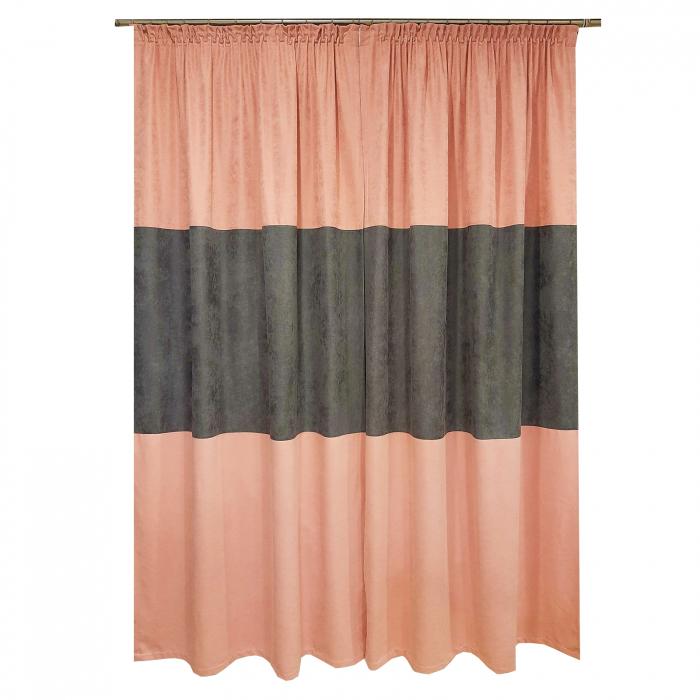 Set draperii Velaria roz-gri, 2x135x240 cm 1