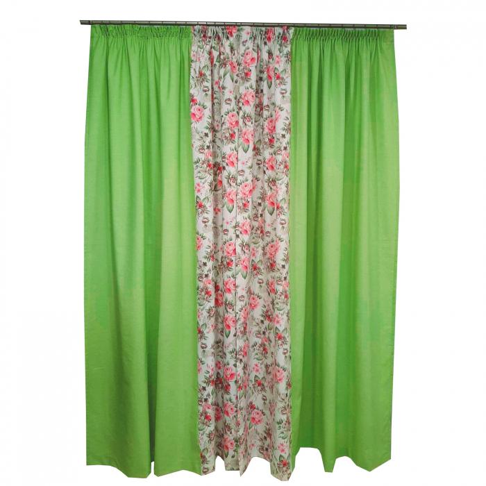 Set draperii Velaria floral verde 2x190x260 cm 1