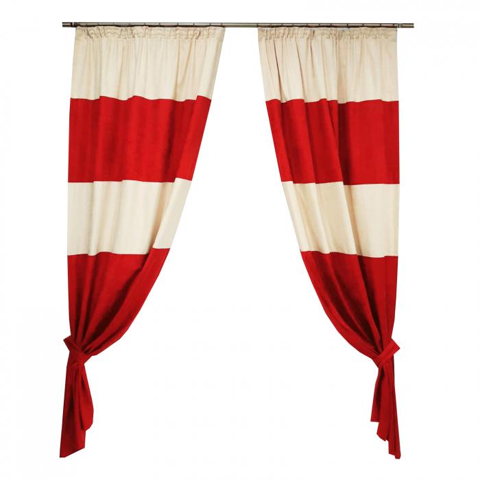 Set draperii Velaria suet grena 2x115x230 cm [0]