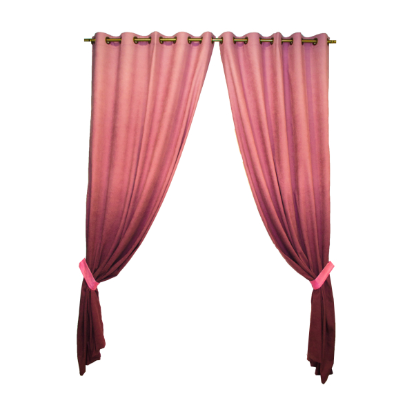 Set draperii Velaria hazel degrade roz, diverse dimensiuni 0