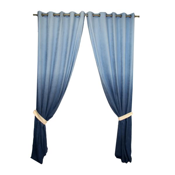 Set draperii Velaria hazel degrade albastru, diverse dimensiuni [0]