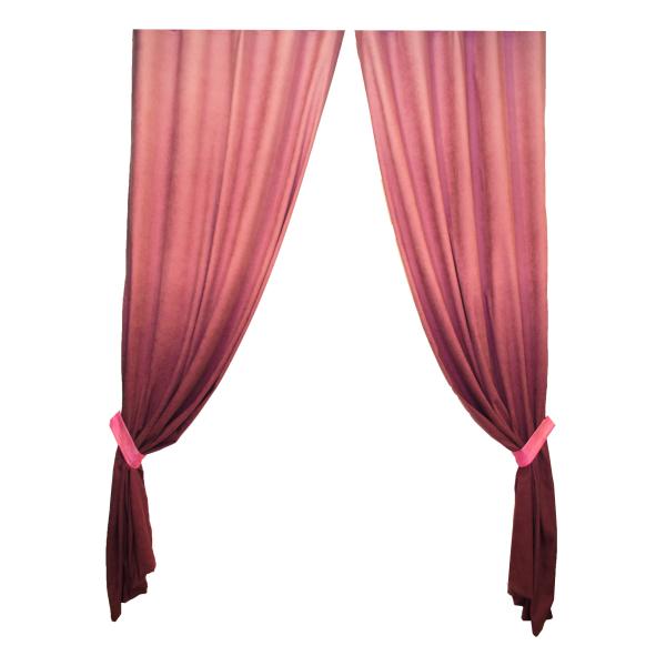 Set draperii Velaria hazel degrade roz pe rejansa, diverse dimensiuni 0