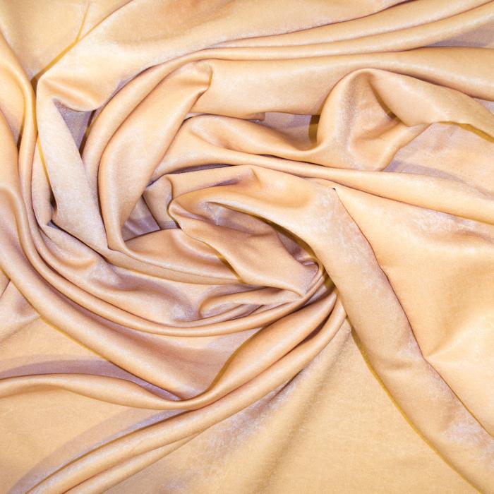 Set draperii Velaria soft auriu cu capse, 2*140x160 cm 2