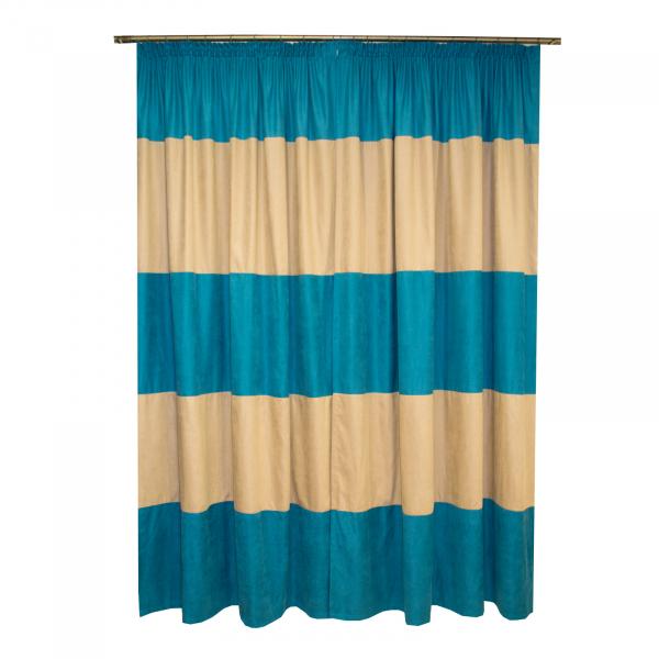 Set draperii Velaria turcoaz-bej, 2x150x230 cm 1