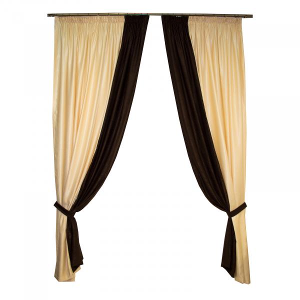 Set draperii Velaria unt cu wenge, 2x200x250 cm 0