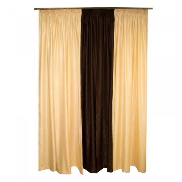 Set draperii Velaria unt cu wenge, 2x200x250 cm 1
