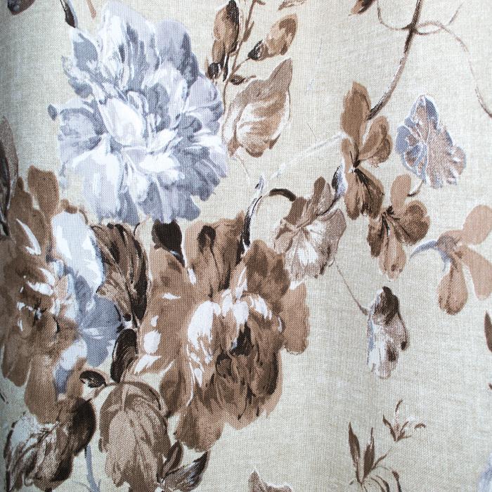 Set draperii Velaria in flori brown cu capse, 2*225x230 cm 4