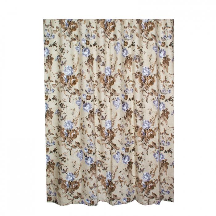 Set draperii Velaria in flori brown cu rejansa 3