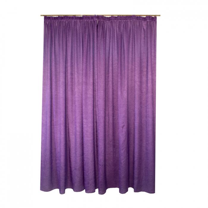 Set draperii Velaria creponat mov, 2*185x260 cm [1]