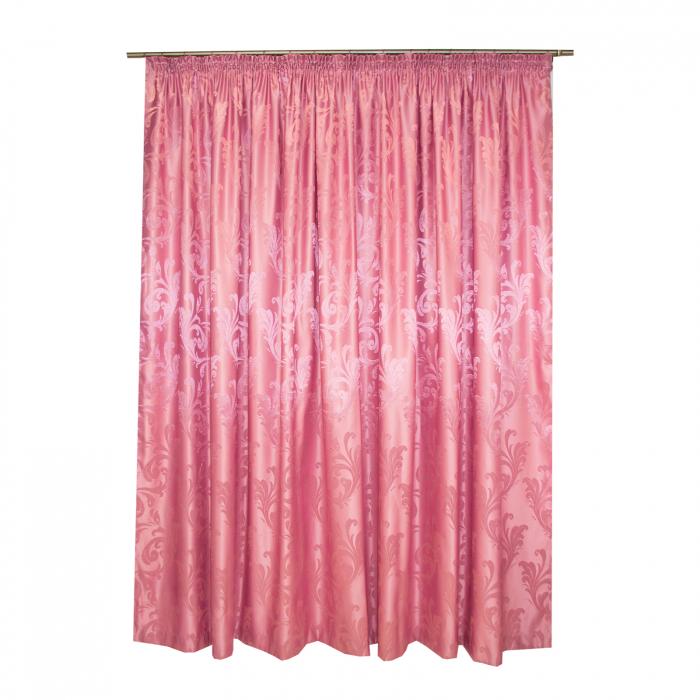 Set draperii Velaria jacard roz, 2*315x245 cm 2