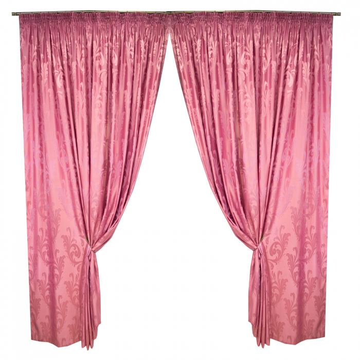 Set draperii Velaria jacard roz, 2*315x245 cm 0