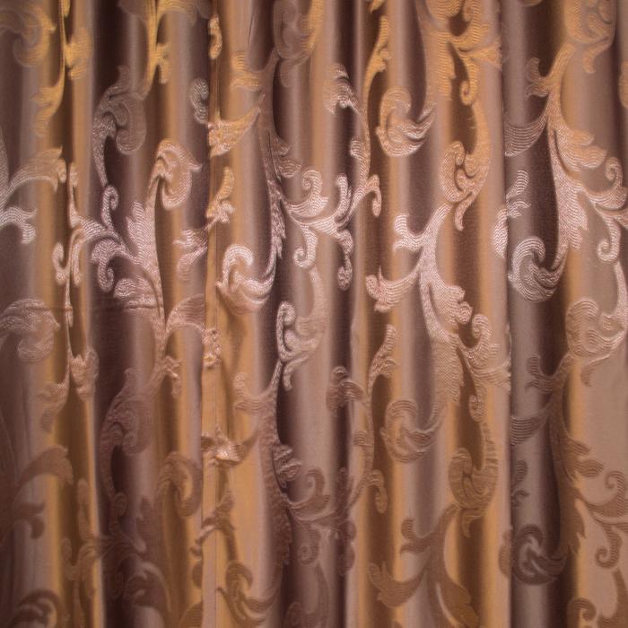 Set draperii Velaria jacard wenge, 2*115x250 cm 2