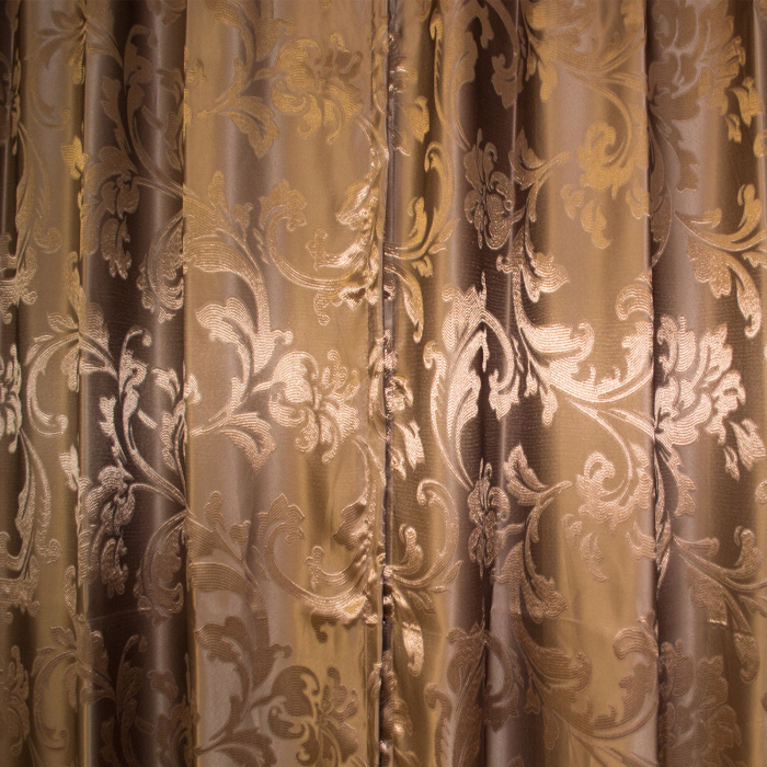 Set draperii Velaria jacard maro 1