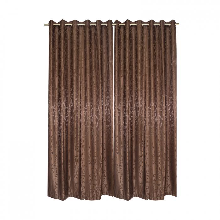 Set draperii Velaria jacard wenge, 2*150x220 cm 2