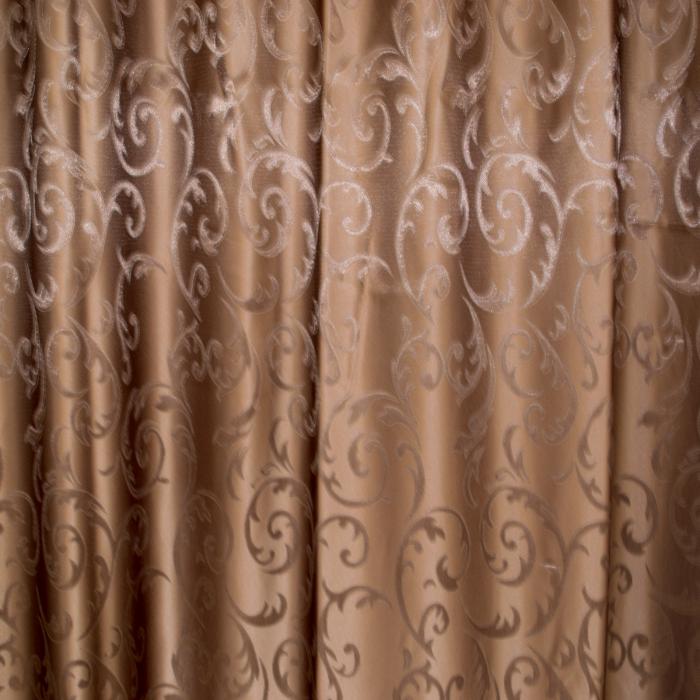 Set draperii Velaria jacard wenge, 2*150x220 cm 1