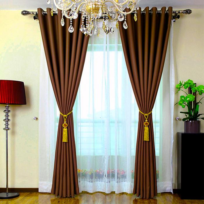 Set draperii Velaria maro catifelat cu capse 1