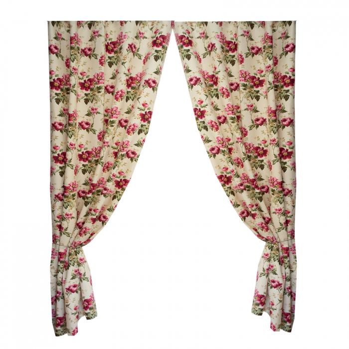 Set draperii Velaria flori rosii [0]