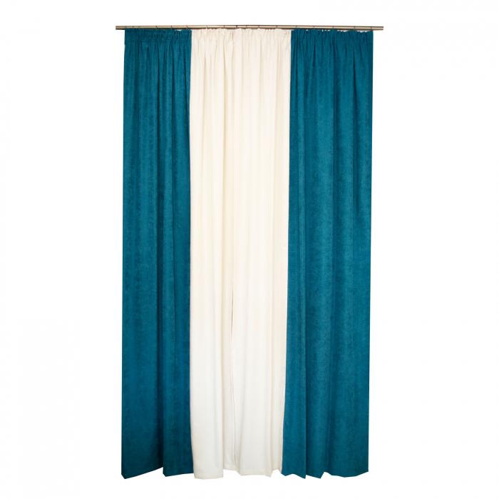 Set draperii Velaria turcoaz-unt, 2*140x260 cm [1]