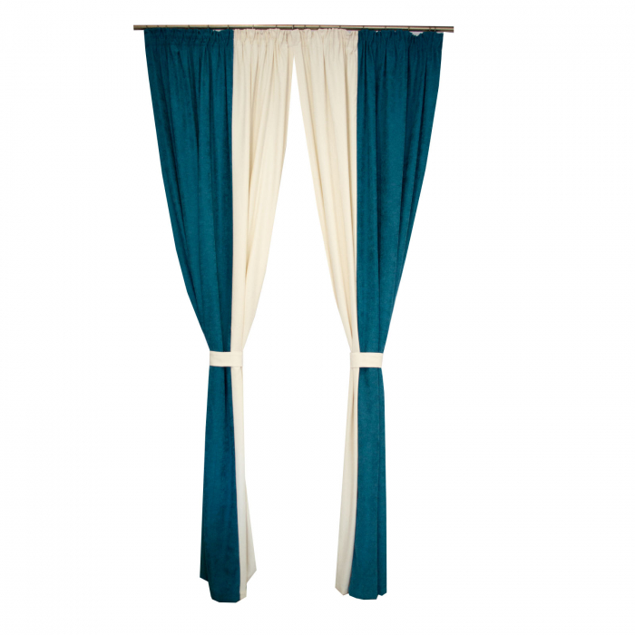 Set draperii Velaria turcoaz-unt, 2*140x260 cm [0]