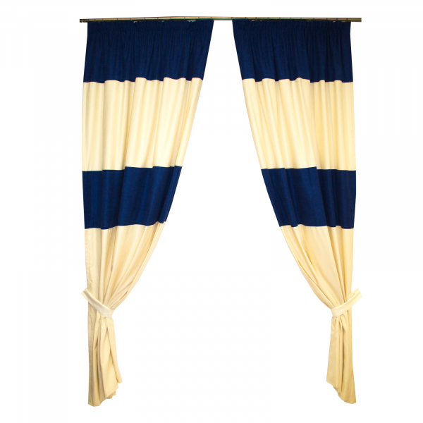 Set draperii Velaria albastru marin, 2x130x245 cm 0