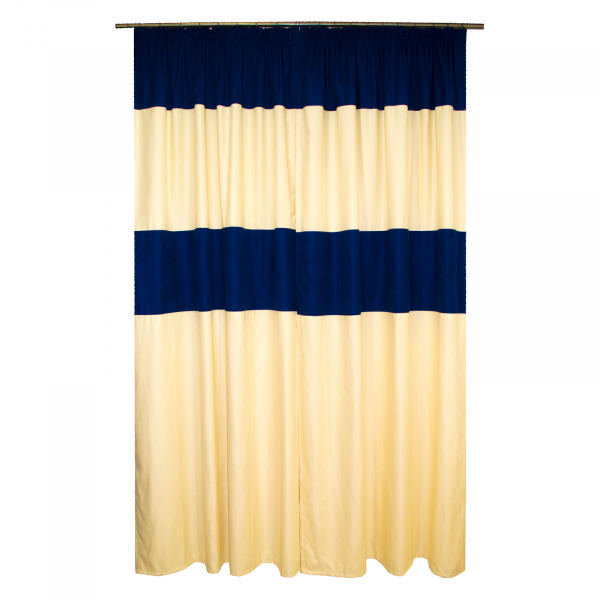 Set draperii Velaria albastru marin, 2x130x245 cm 1