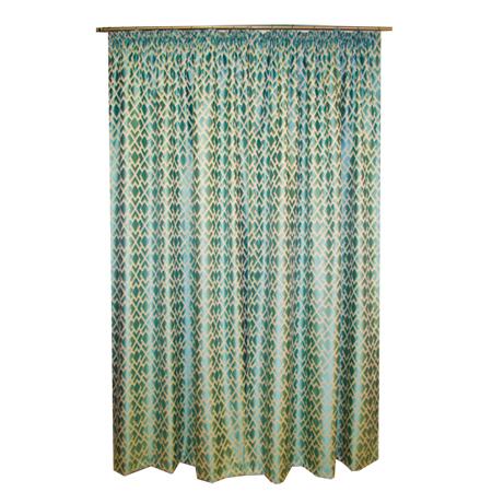 Set draperii Velaria romburi turcoaz, 2*150x260 cm [1]