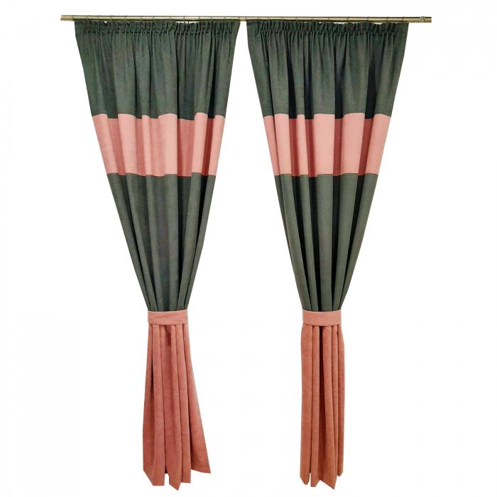 Set draperii Velaria gri-roz, 2x160x235 cm [1]