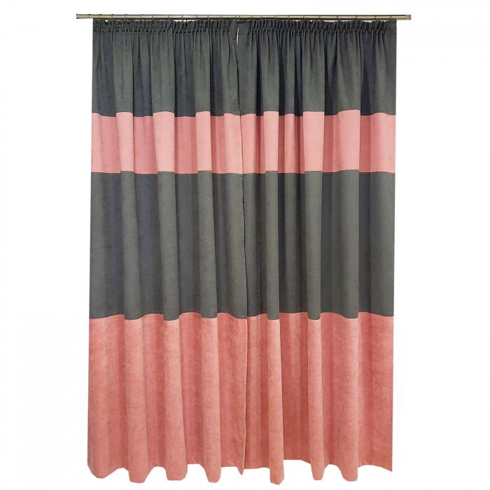 Set draperii Velaria gri-roz, 2x160x235 cm [2]
