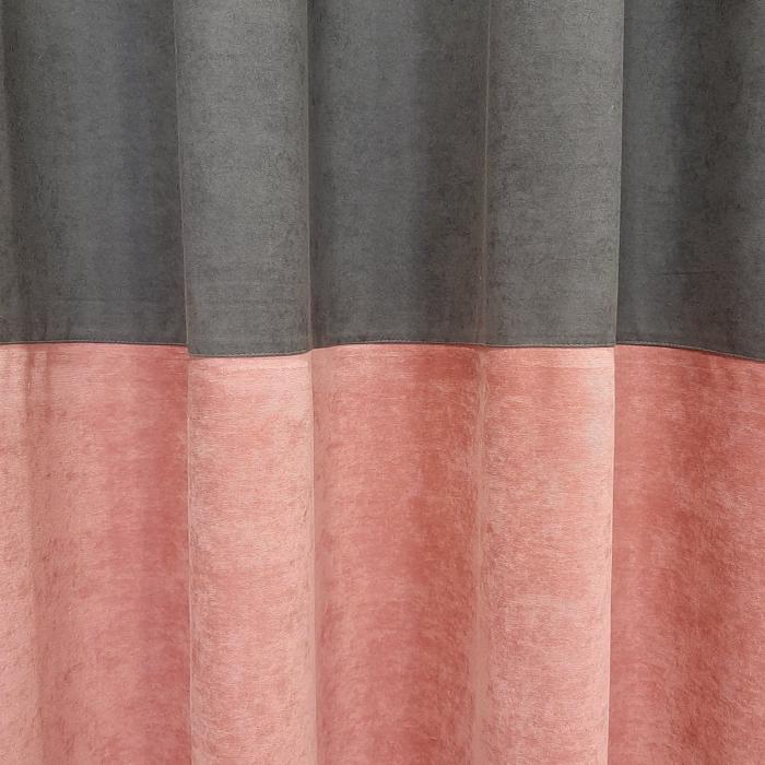 Set draperii Velaria gri-roz, 2x160x235 cm [3]