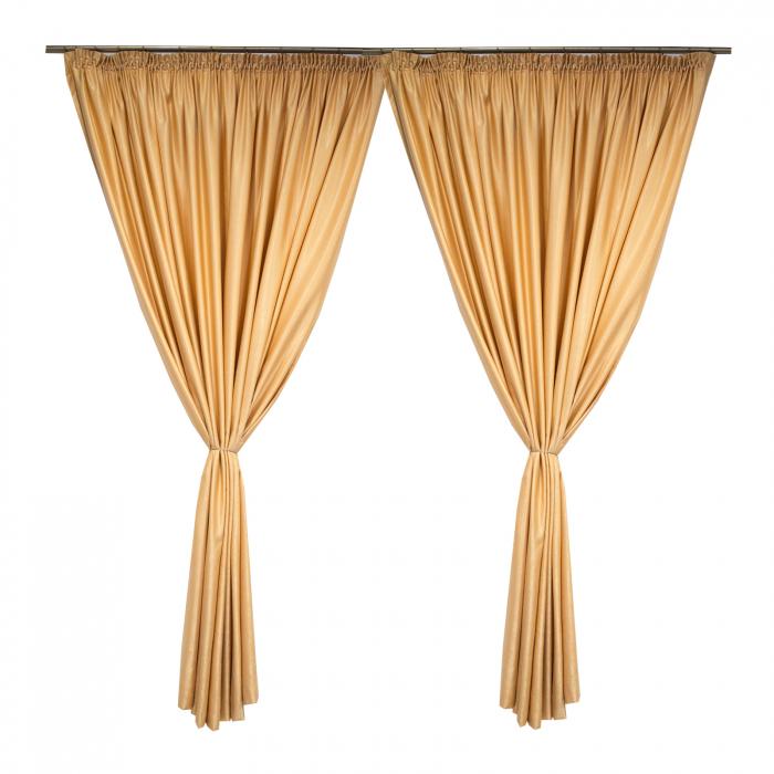 Set draperii Velaria soft auriu, 2*260x245 cm 1