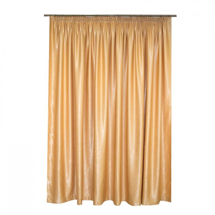 Set draperii Velaria soft auriu, 2*260x245 cm 2