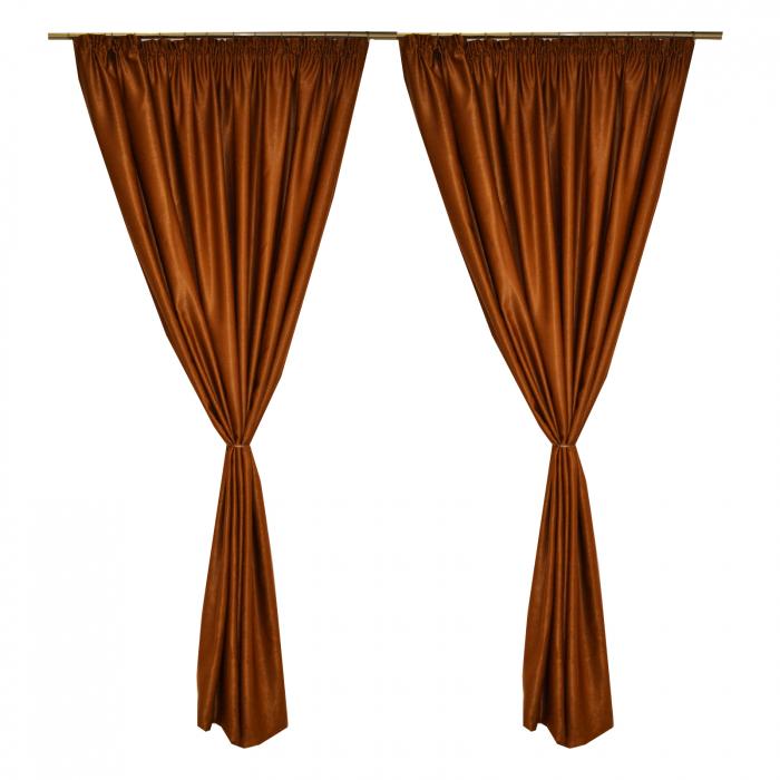 Set draperii Velaria soft maro, 2*210x245 cm 0