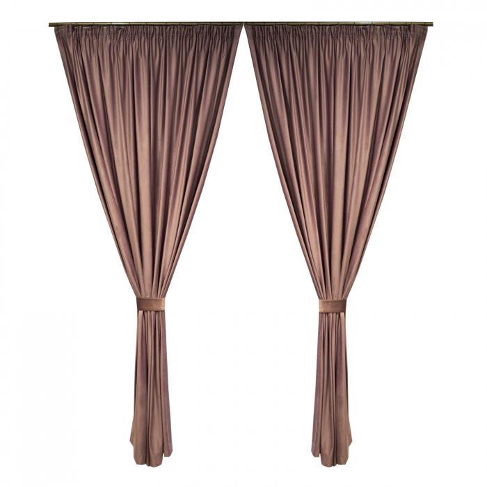 Set draperii Velaria catifea roz prafuit 0