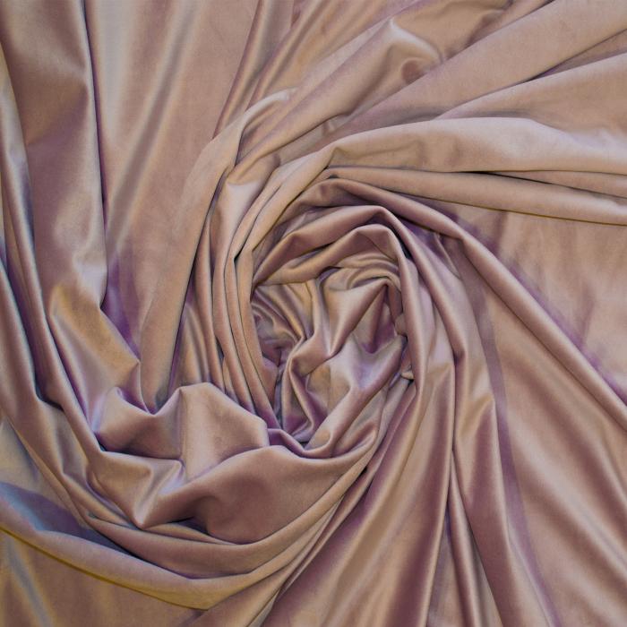 Set draperii Velaria catifea roz prafuit 2