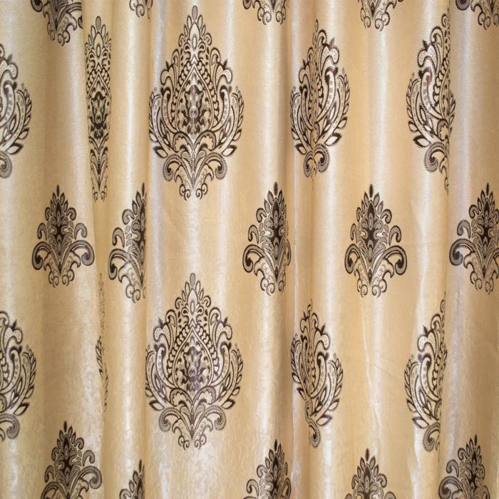 Set draperii Velaria blackout grej cu baroc wenge, 2*285x245 cm 1