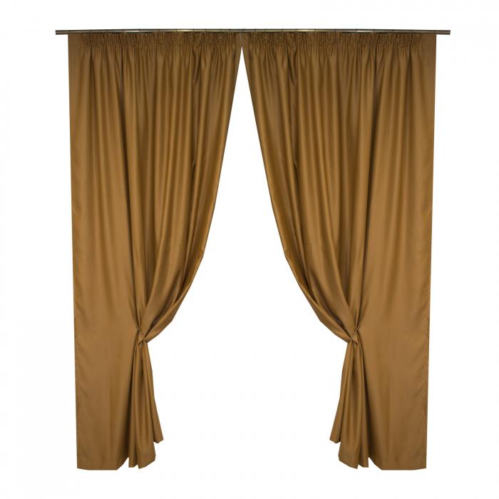 Set draperii blackout caramel, 2*185x250 m 0