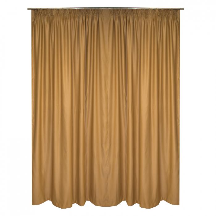 Set draperii blackout caramel, 2*185x250 m 1