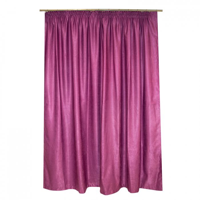 Set draperii Velaria soft pruna, 2*230x245 cm 1